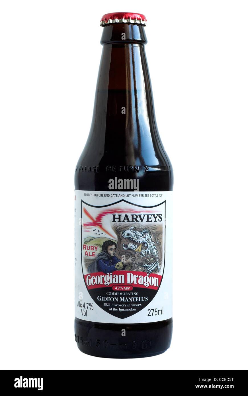 Harveys Georgian Dragon Bottled Beer - current @ 2011. - Stock Image