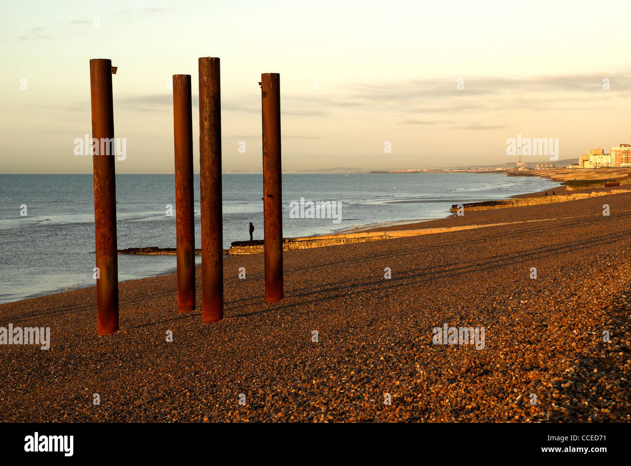 The remains of the West Pier Brighton, East Sussex, England, UK. - Stock Image