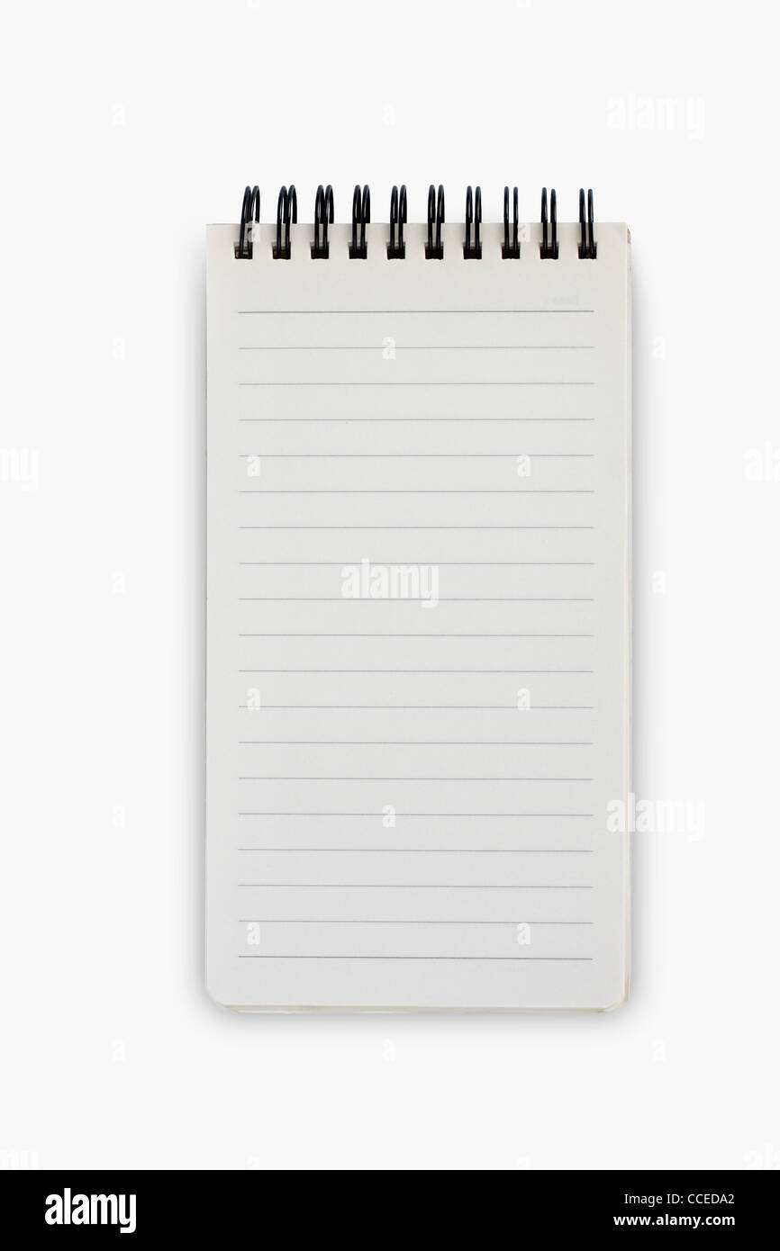 blank paper spiral - Stock Image