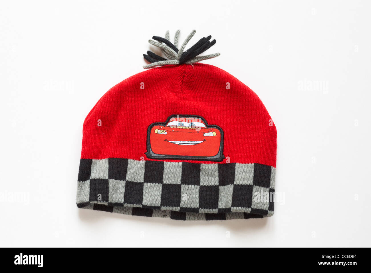 Child's hat with Disney Cars motif on isolated on white