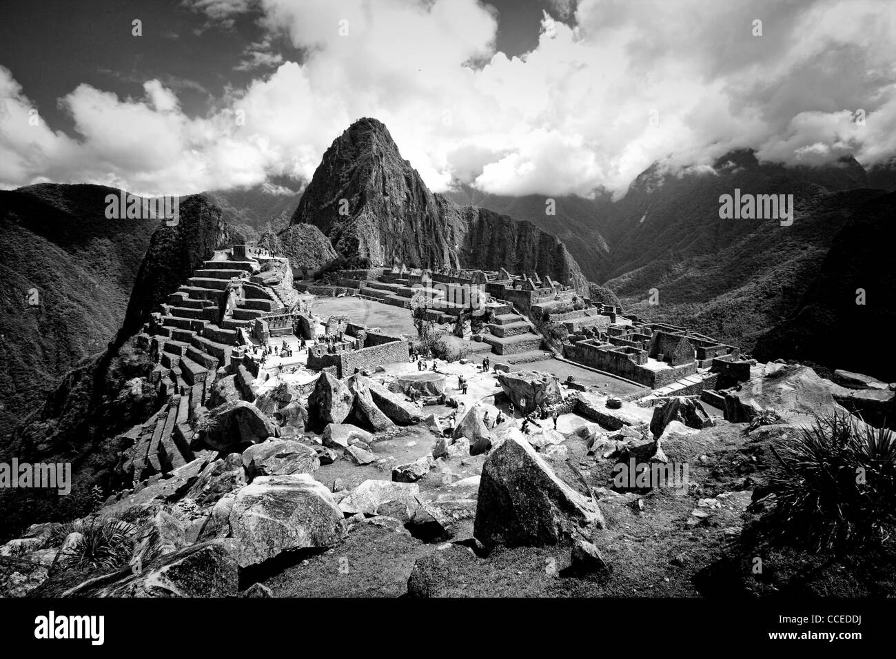 The ruins of the lost Incan city Machu Picchu, Peru. - Stock Image