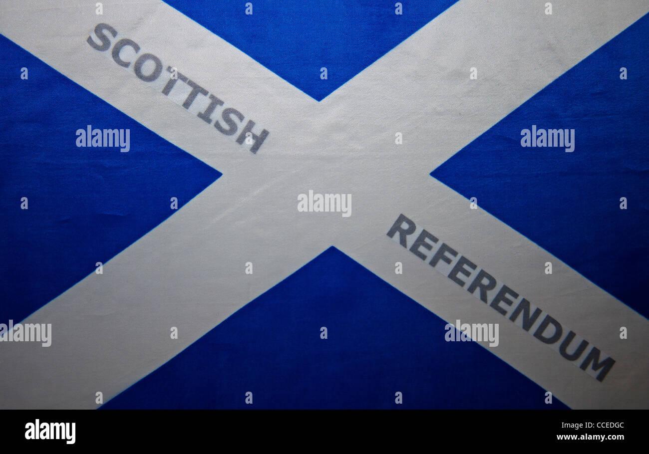 Scottish Independence referendum saltire flag Stock Photo