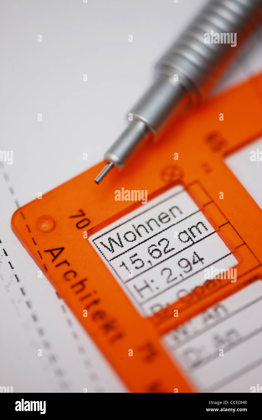 GER, 20120106,plan - Stock Image