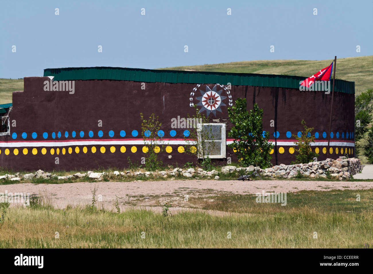 The Pine Ridge Indian Reservation Lakota Oglala Sioux South Dakota in USA Stock Photo