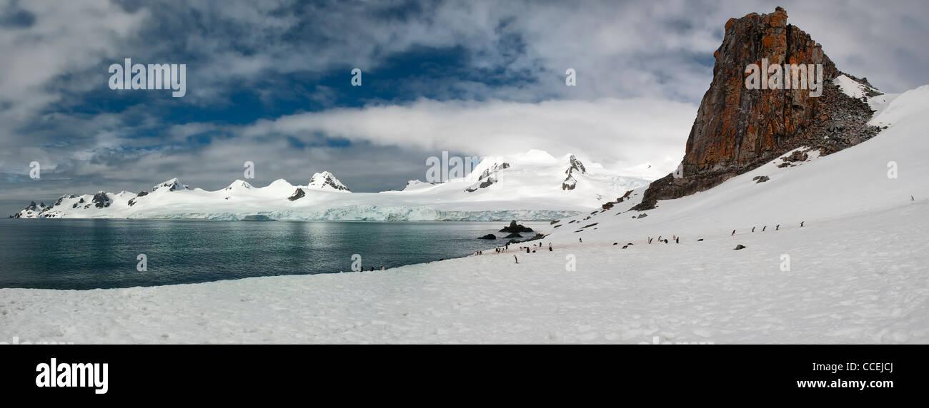Half Moon Island, South Shetland Islands, Antarctic Peninsula - Stock Image