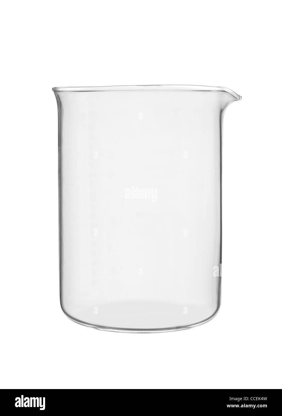beaker: laboratory glassware - Stock Image