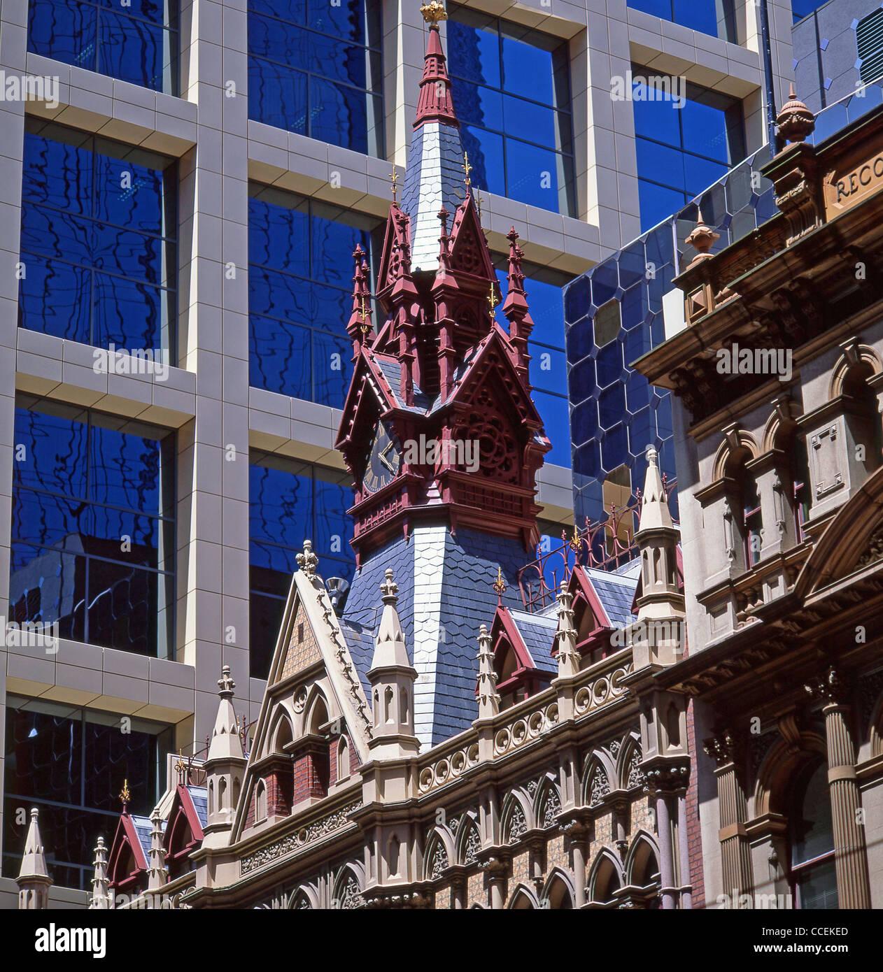 Modern And Neo Gothic Architecture Collins Street Melbourne Victoria Australia