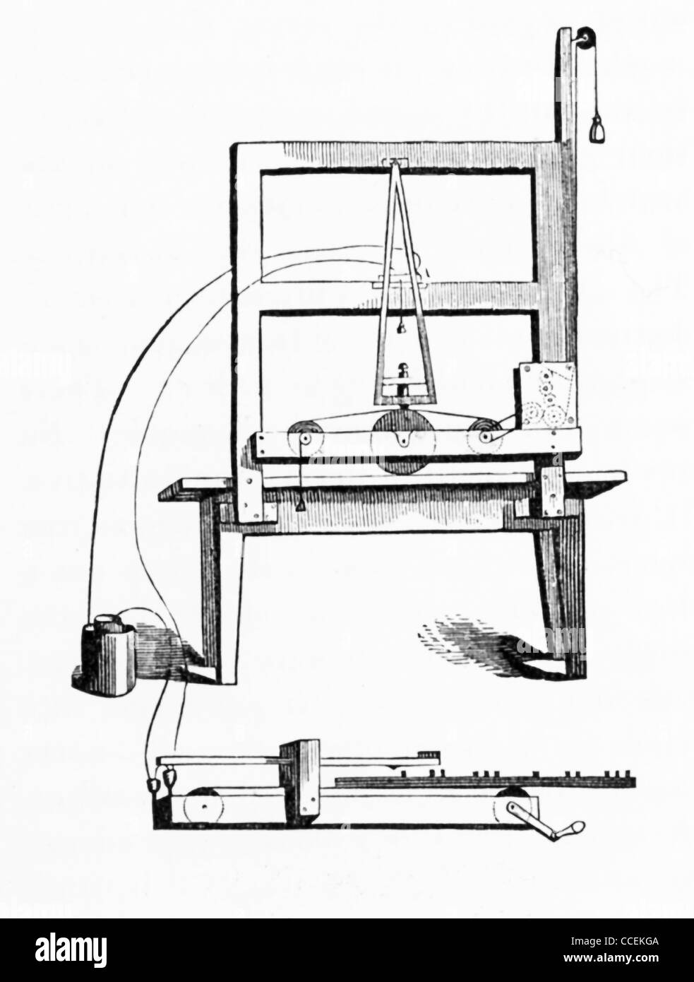 American scientist Samuel Morse patented his invention of an electrical telegraph in 1837—the original here. - Stock Image