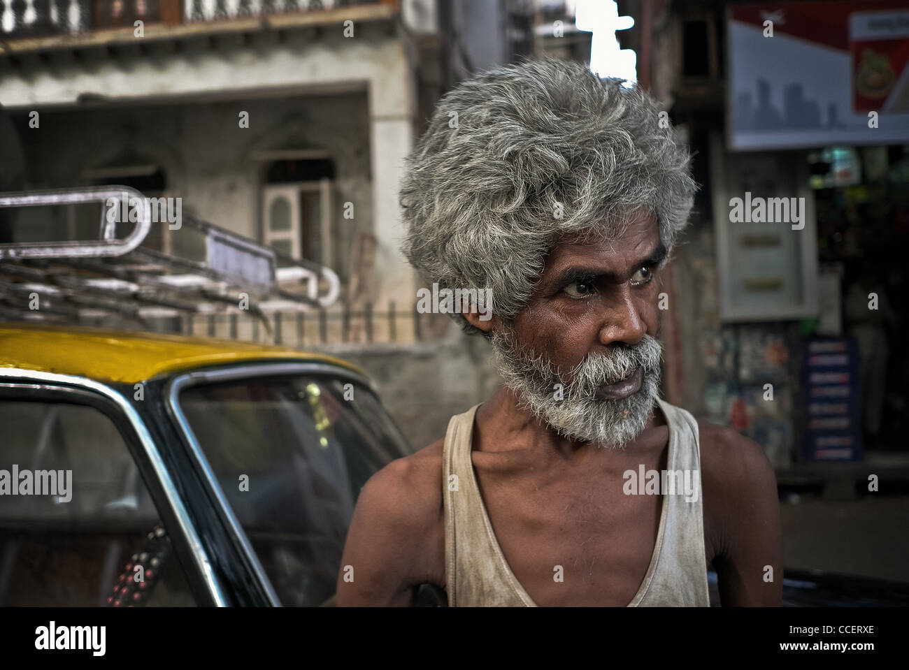Untouchable and disabled Bombay., The distance. - Stock Image