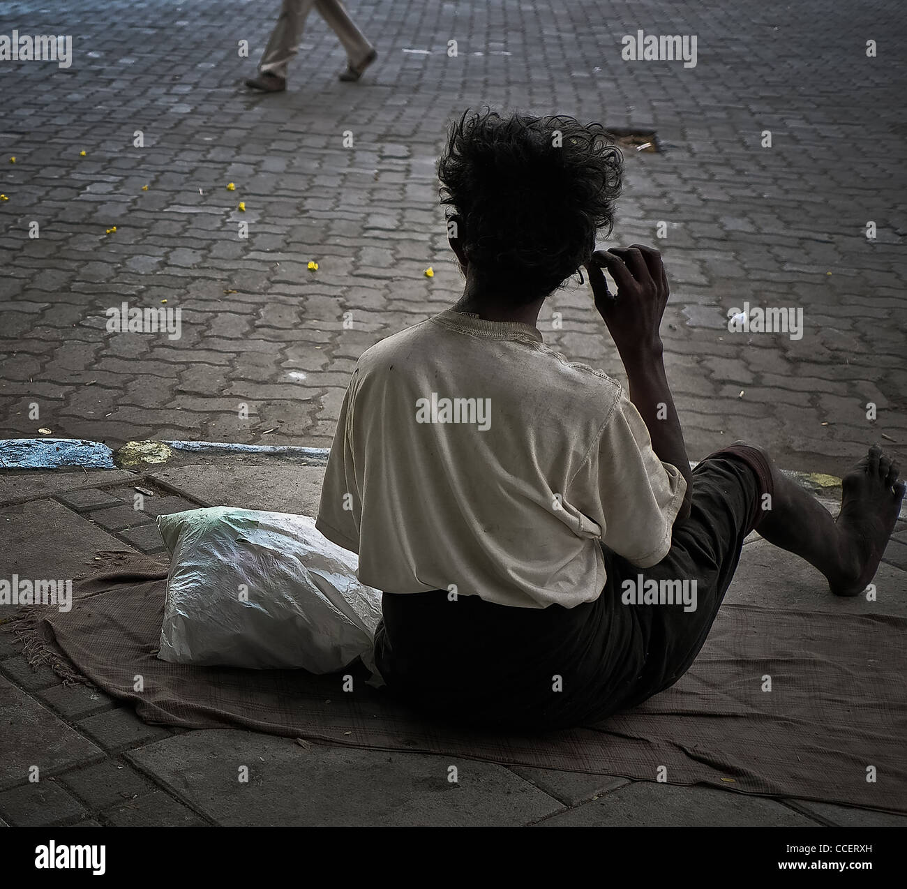 Untouchable and disabled Bombay., The backof misery. - Stock Image