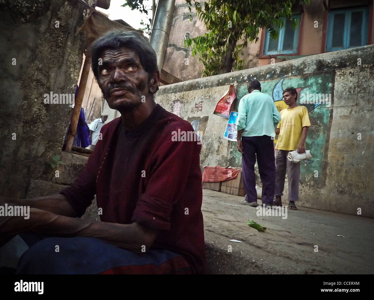 Untouchable and disabled Bombay., the weathered. - Stock Image