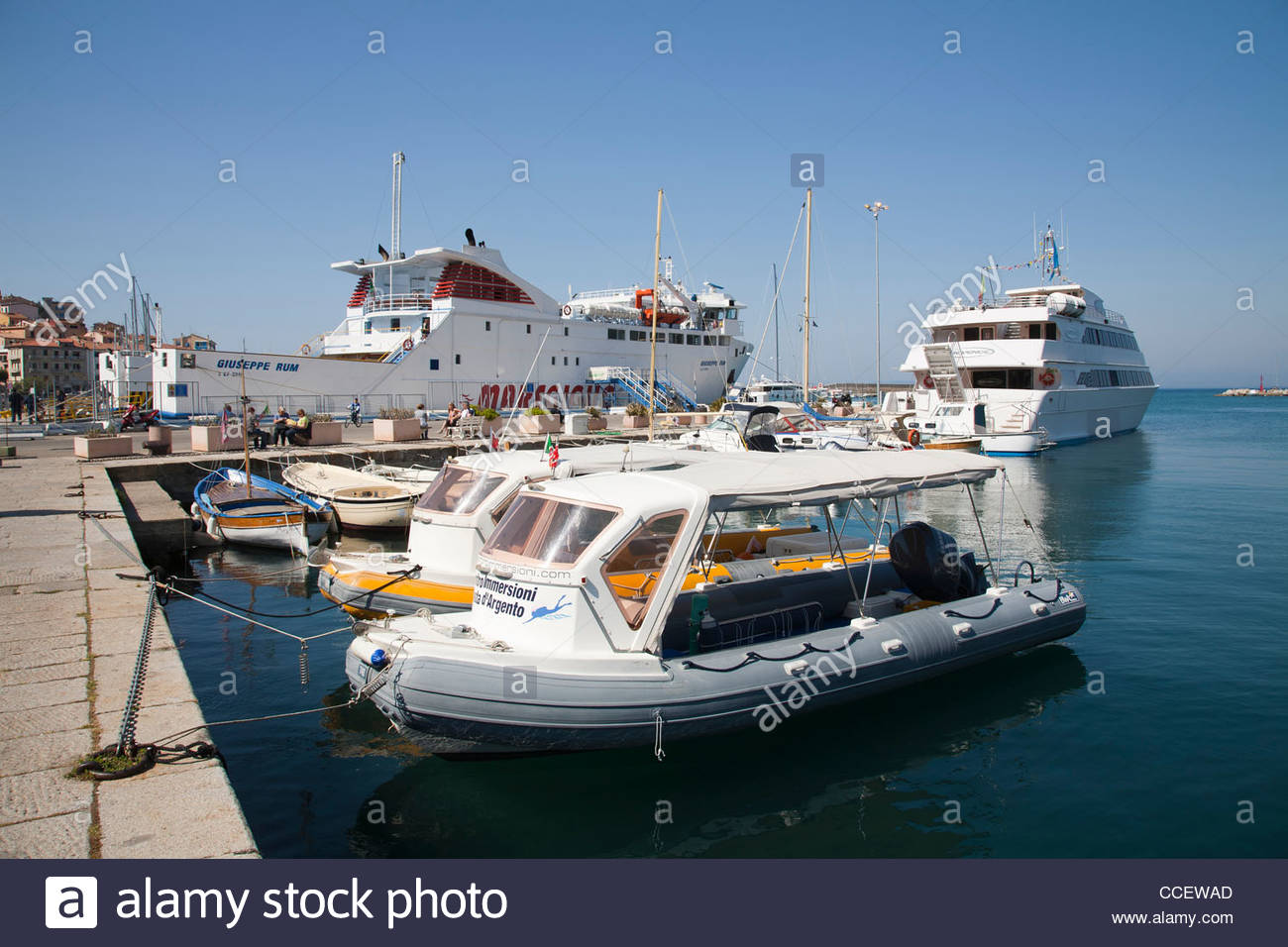 porto santo stefano,argentario peninsula,tuscany,italy,europe - Stock Image