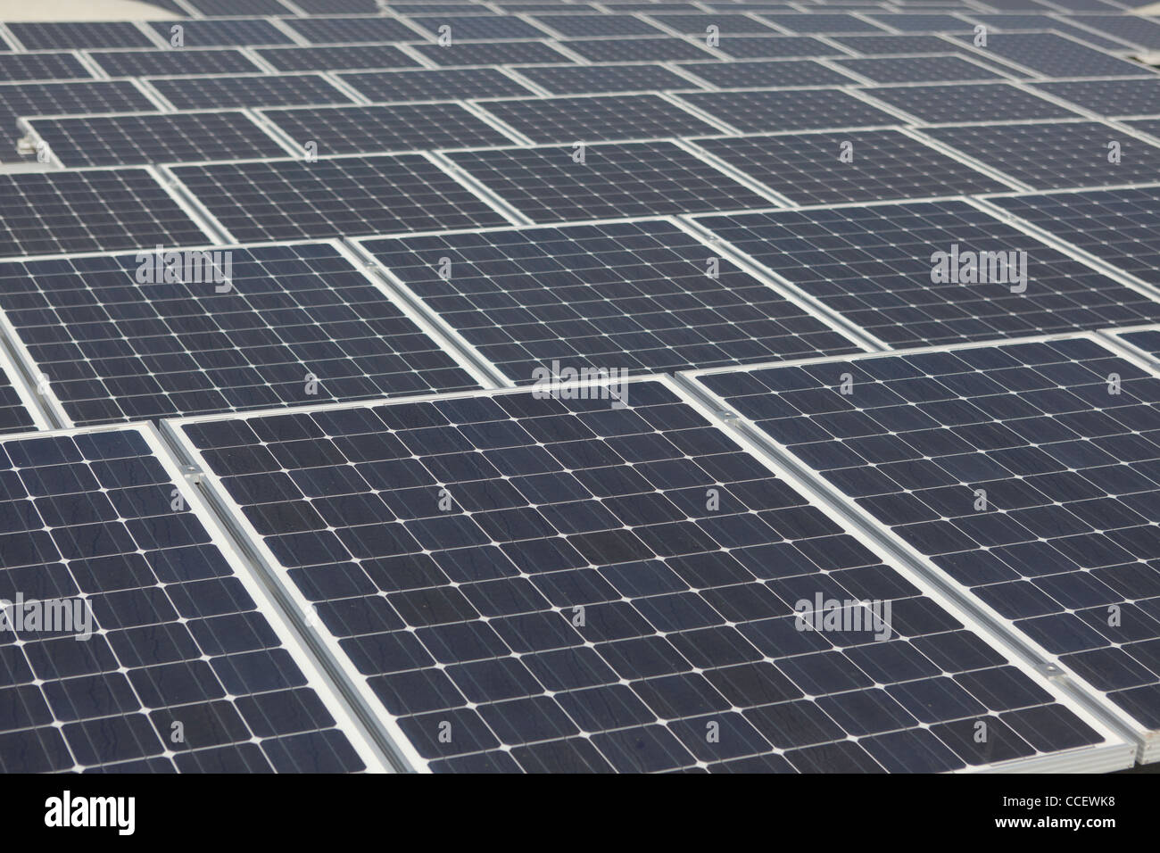 Large array of solar panels - Stock Image