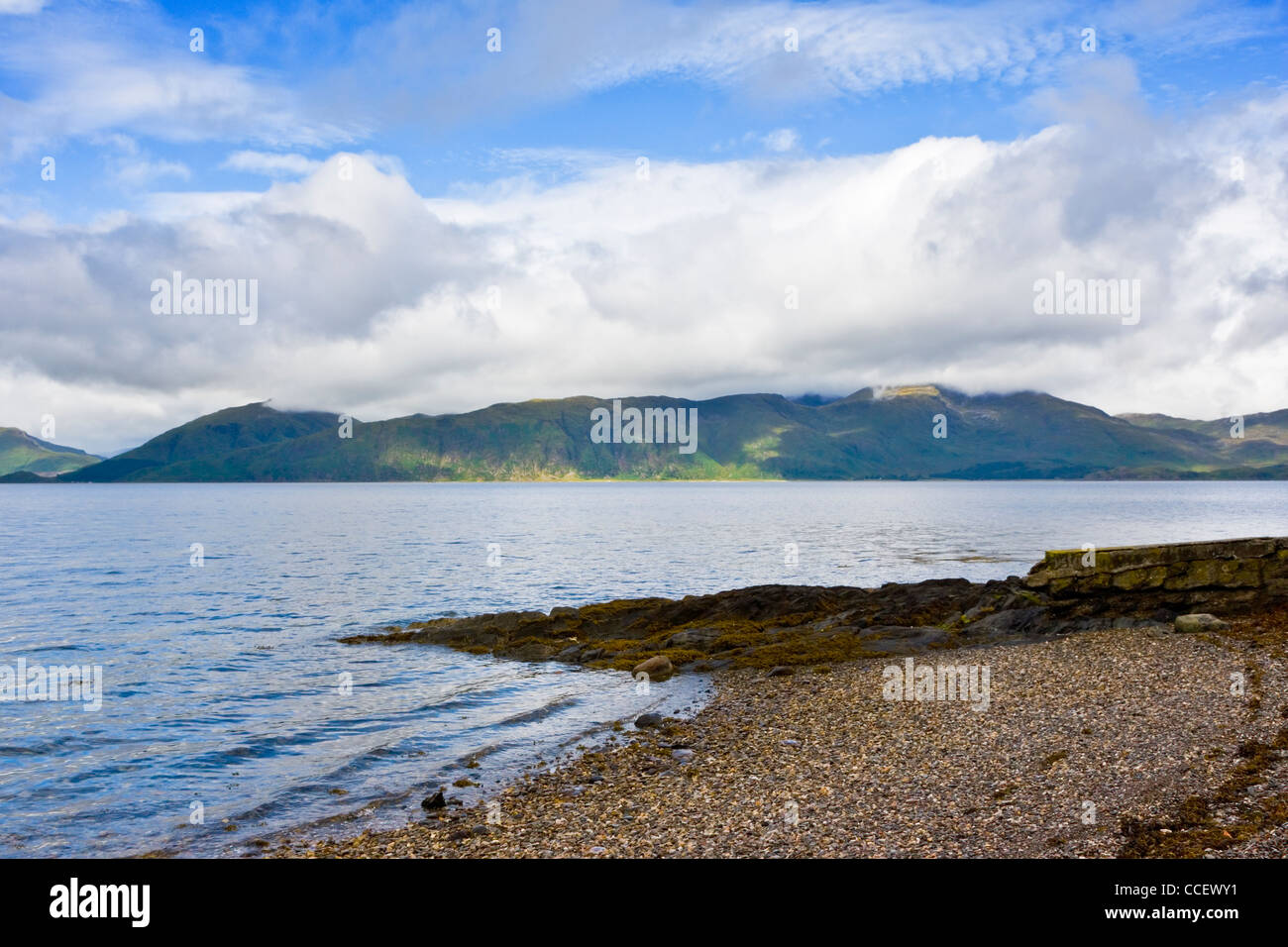 View across Loch Linnhe a sea-loch on the west coast of Scotland - Stock Image