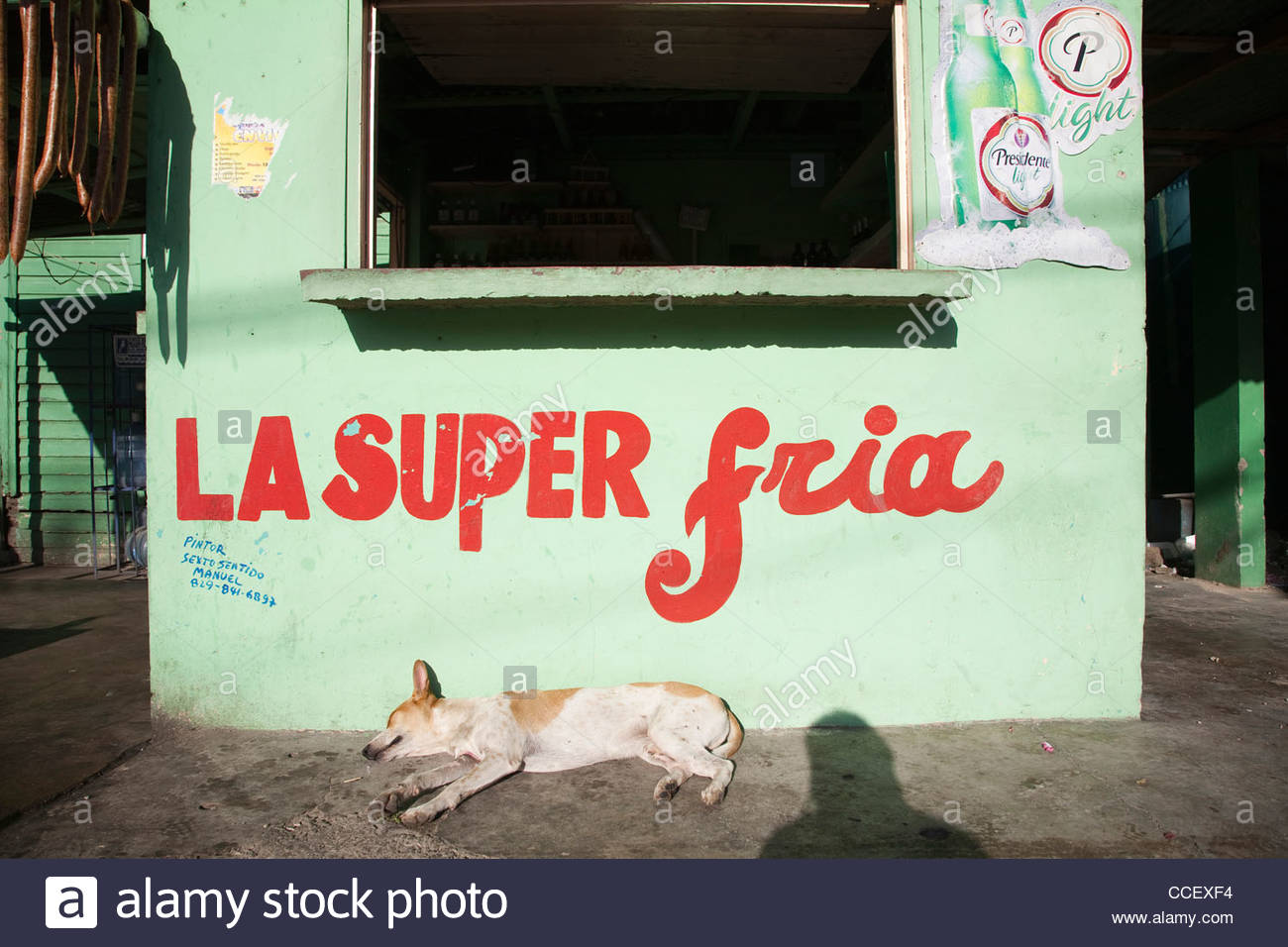 otra banda,hispaniola,dominican republic,caribbean Stock Photo
