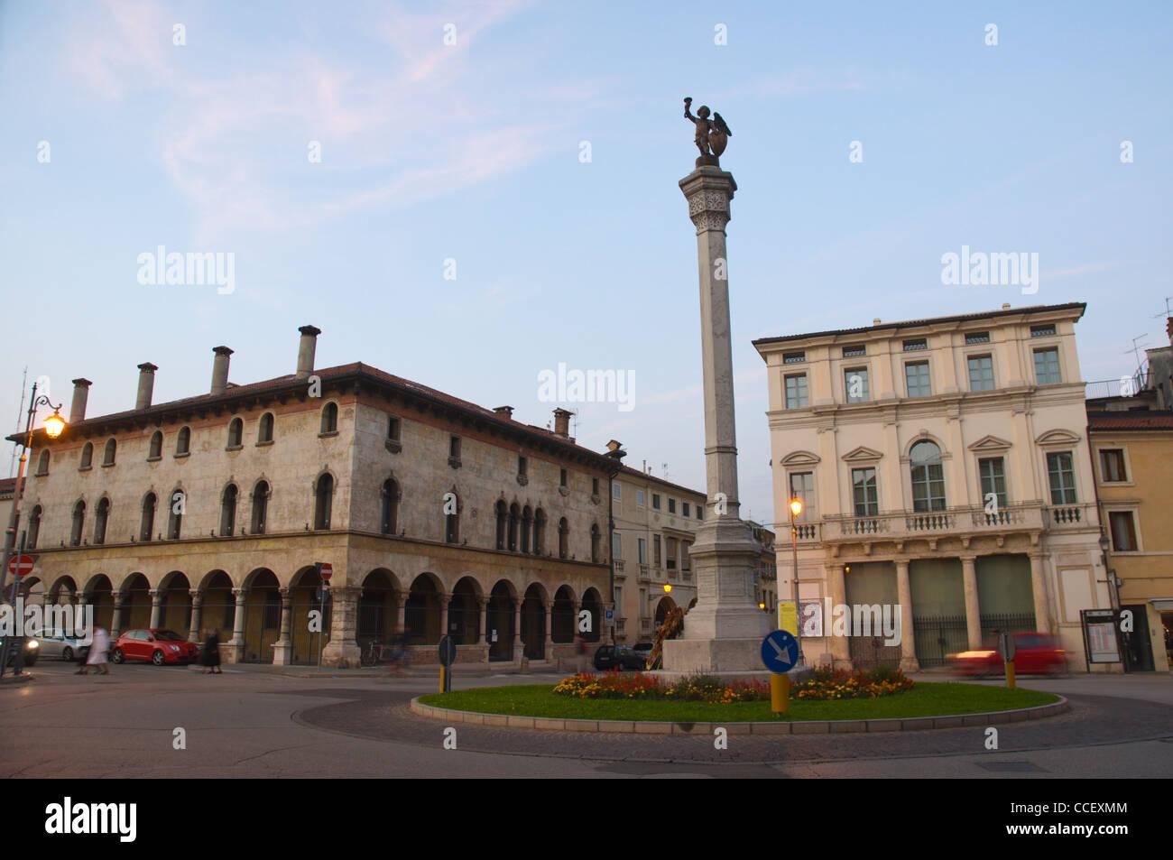 Piazza Venti Settembre square Vicenza the Veneto region northern Italy Europe - Stock Image