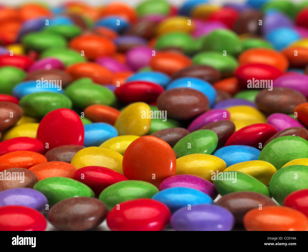 Smarties sweets - Stock Image