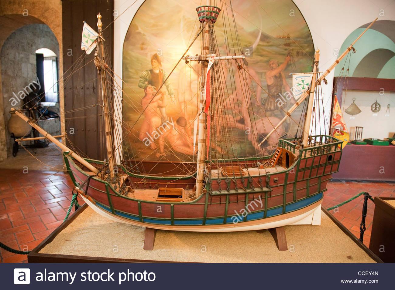 caravel st mary of christopher columbus,santo domingo,hispaniola,dominican republic,caribbean - Stock Image