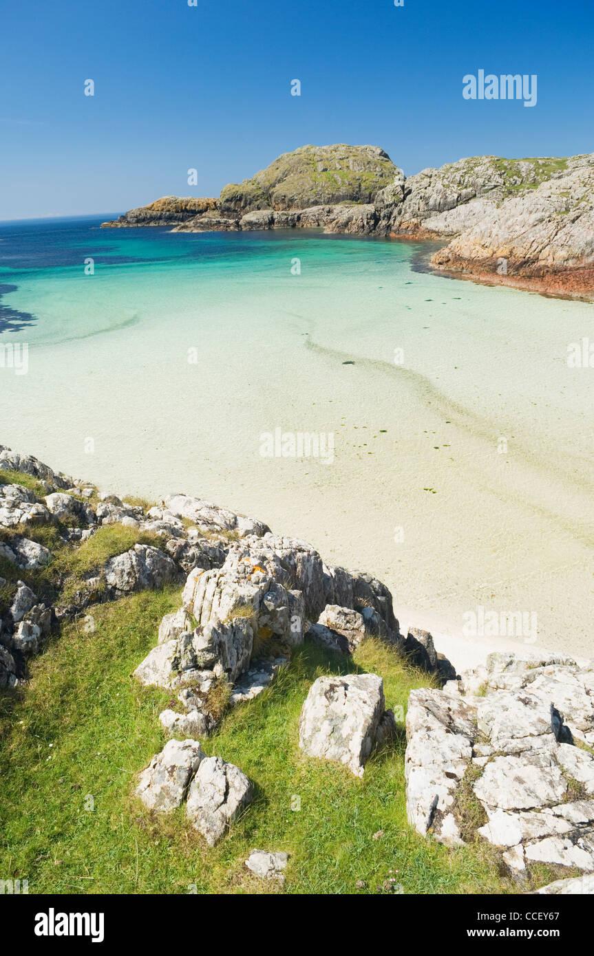 Beach on the Isle of Iona, Argyll, Scotland. - Stock Image
