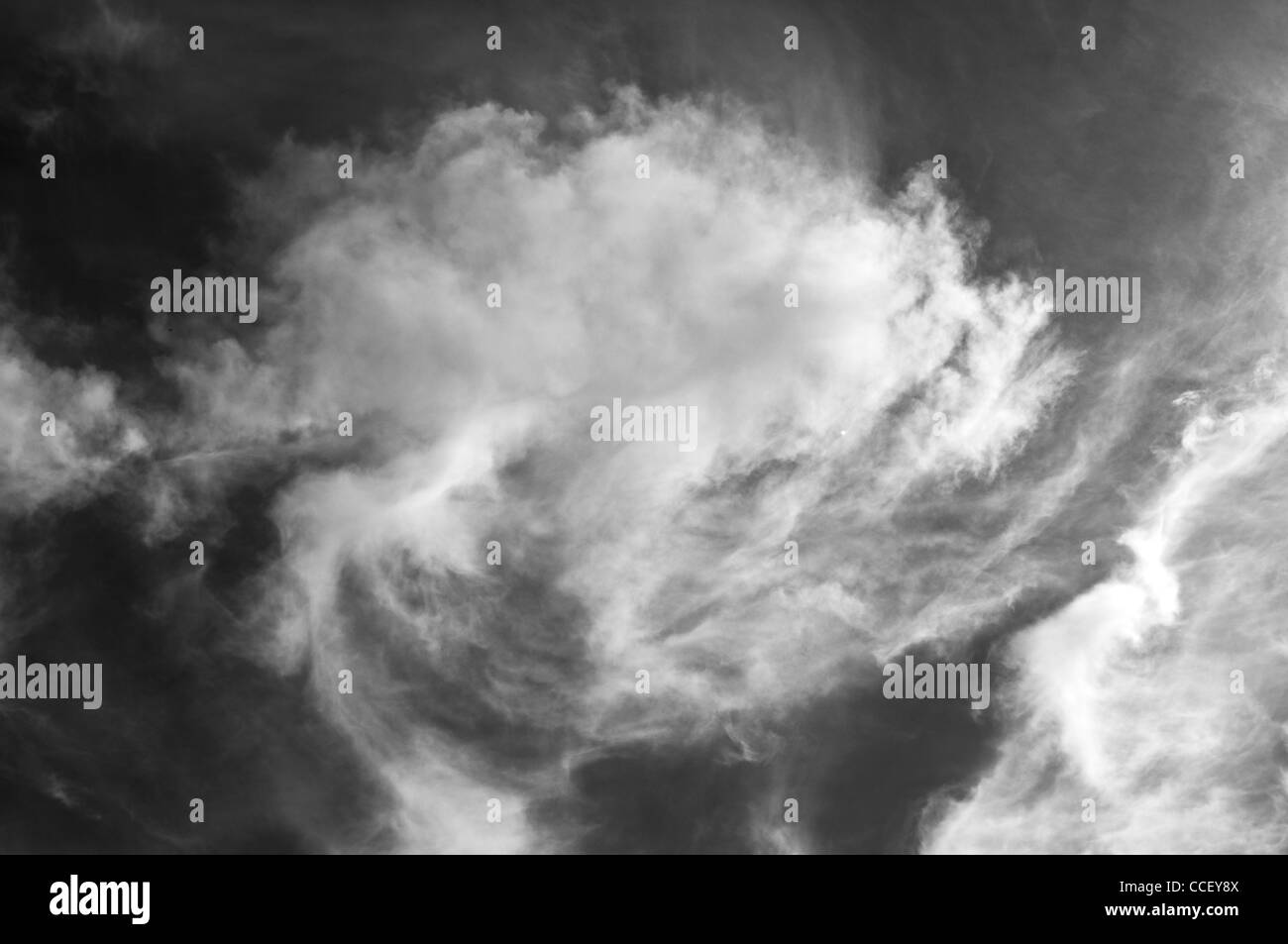 Sky and clouds in black and white - Stock Image