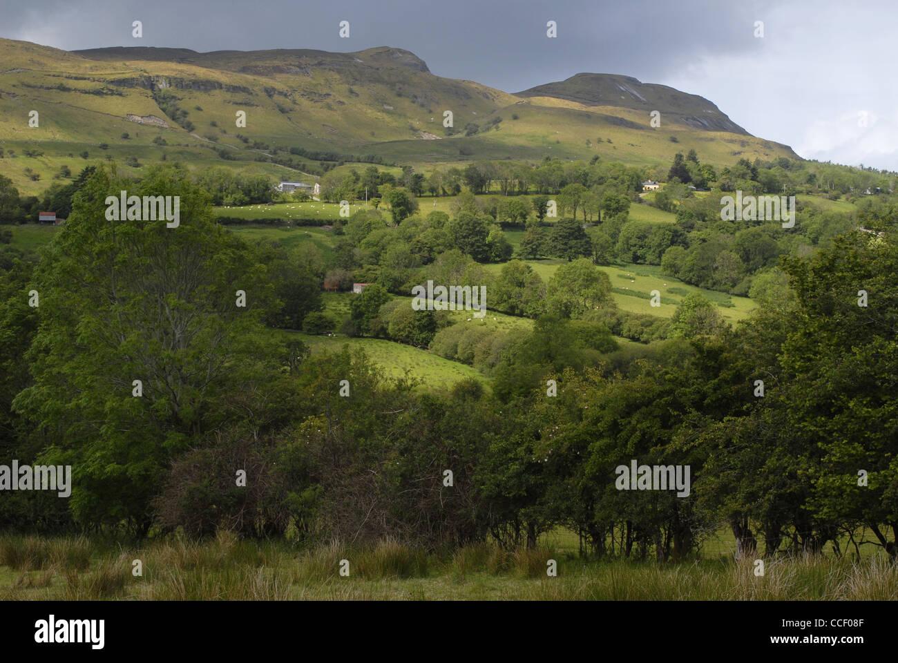 Glencar Valley, County Leitrim, Connacht, Ireland, Europe. - Stock Image