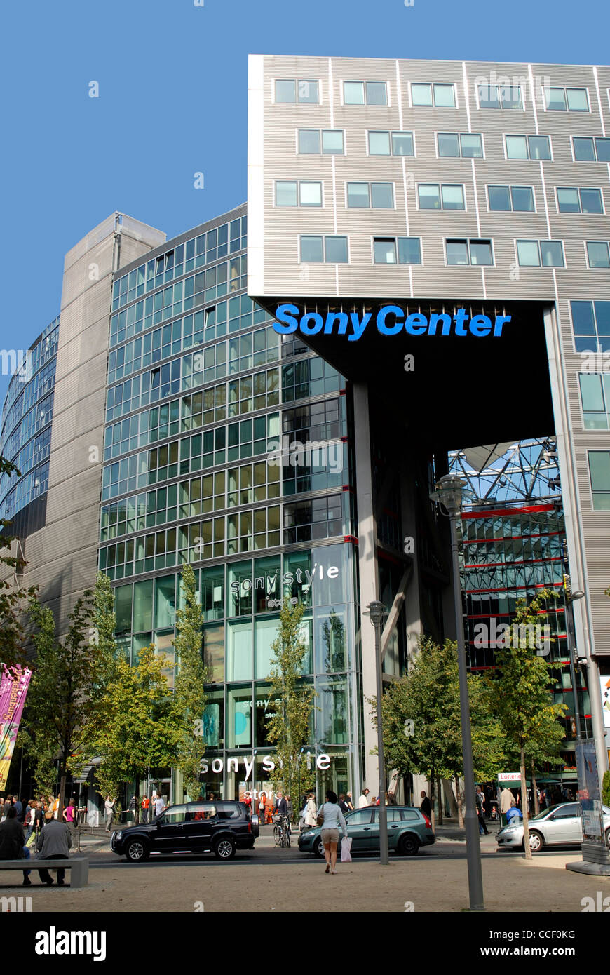 Sony centre at the Potsdam place in Berlin. Stock Photo
