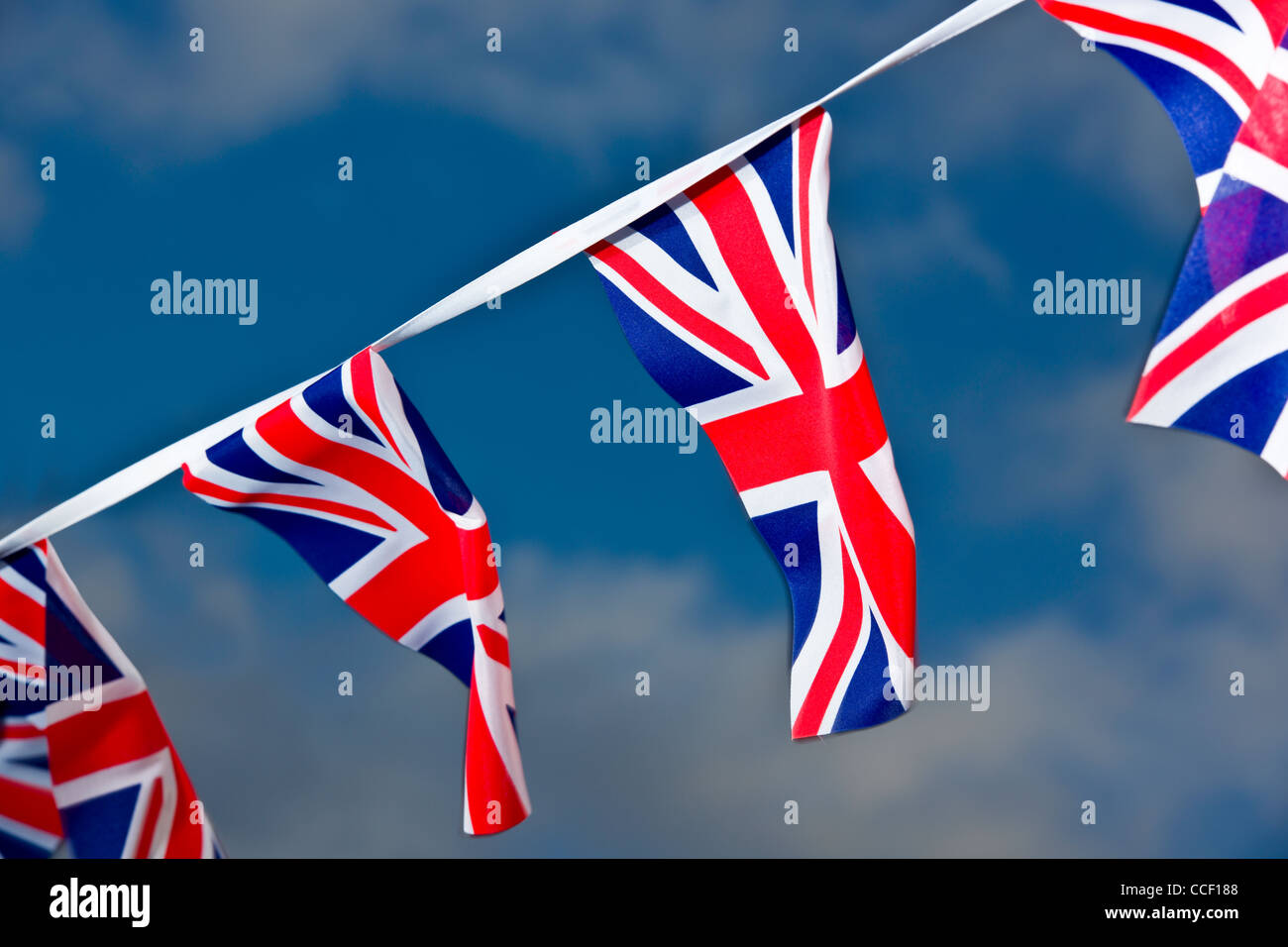 Patriotic 'Union Jack' Bunting - Stock Image