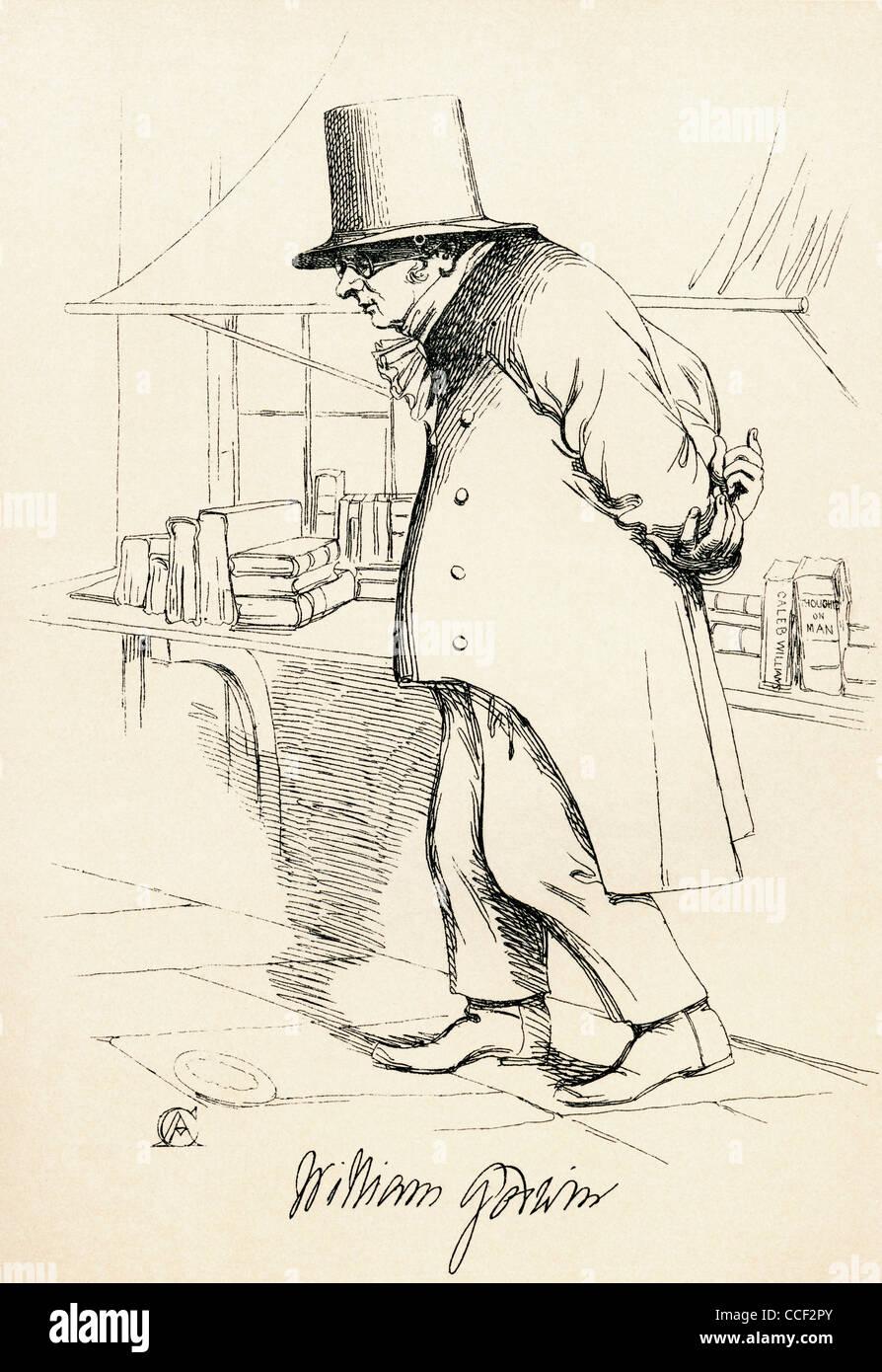 William Godwin, 1756 – 1836. English journalist, political philosopher and novelist. - Stock Image