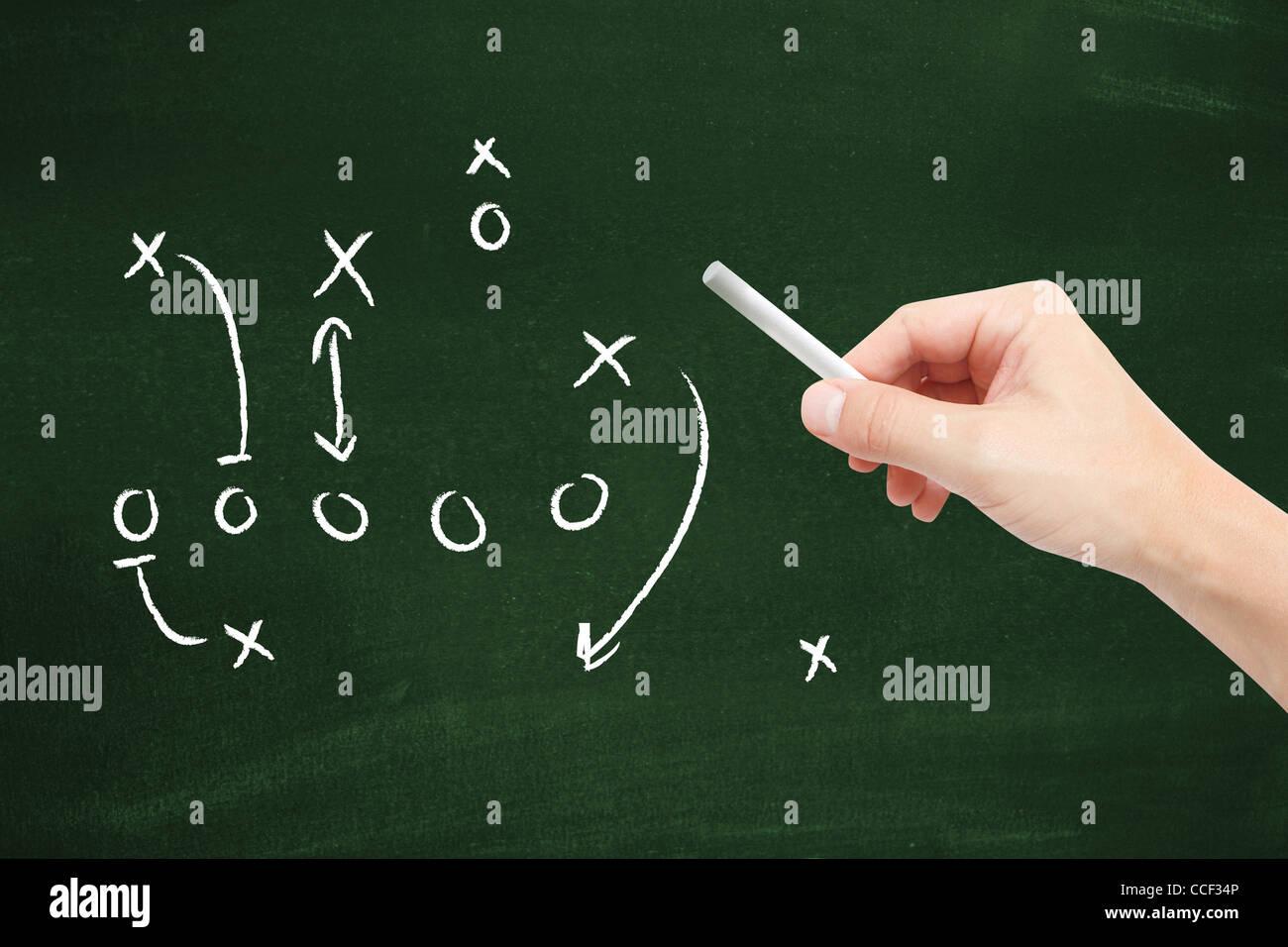 Sport tactics - Stock Image