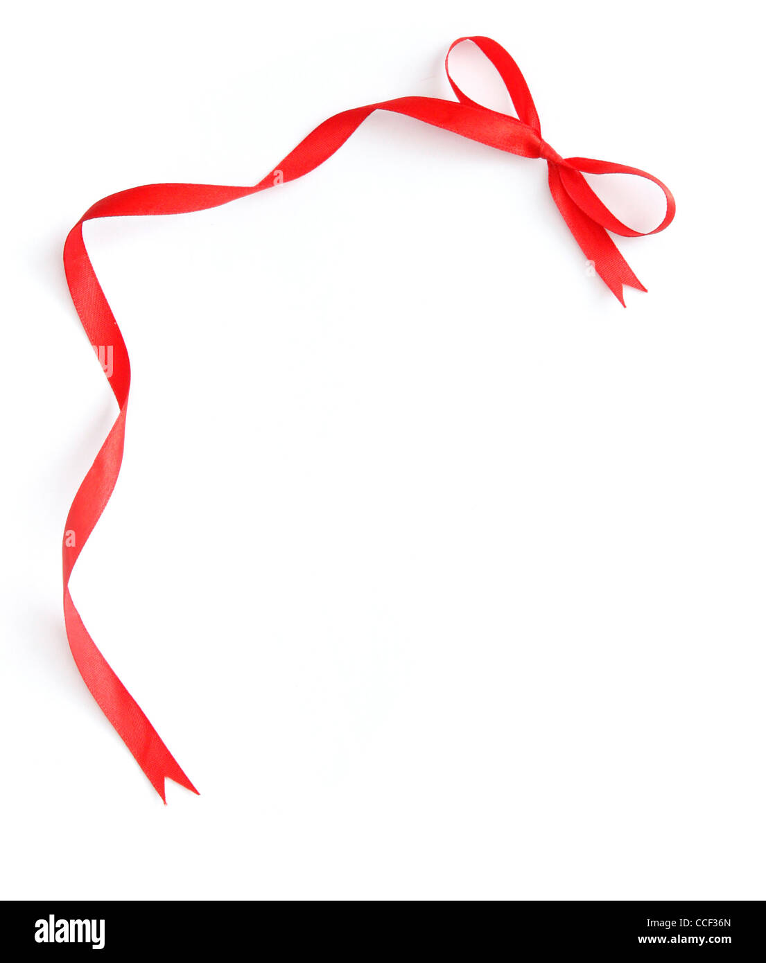 Red ribbon frame - Stock Image