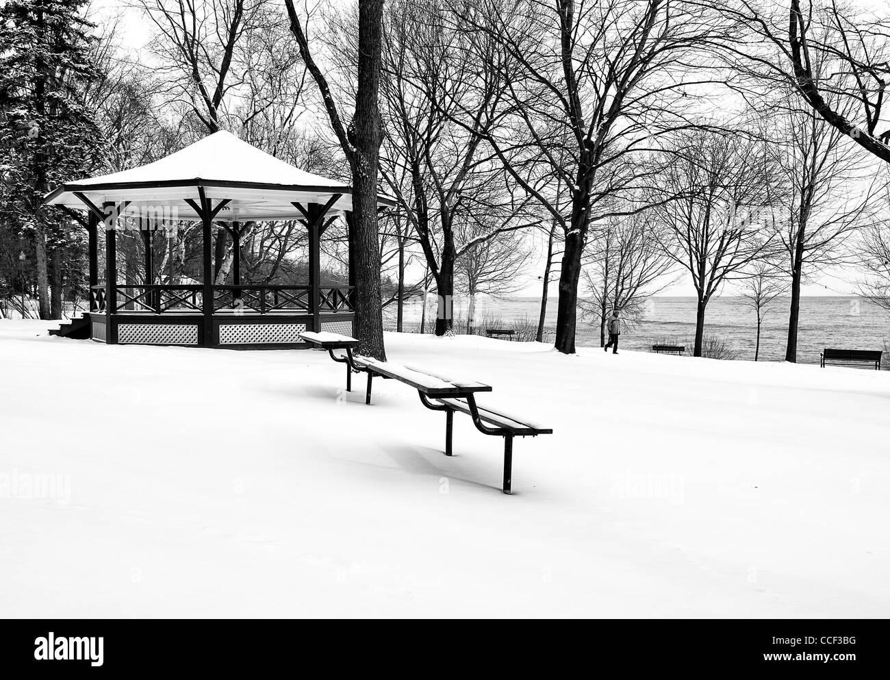 Lakeside Park in Winter, Oakville,Ontario - Stock Image