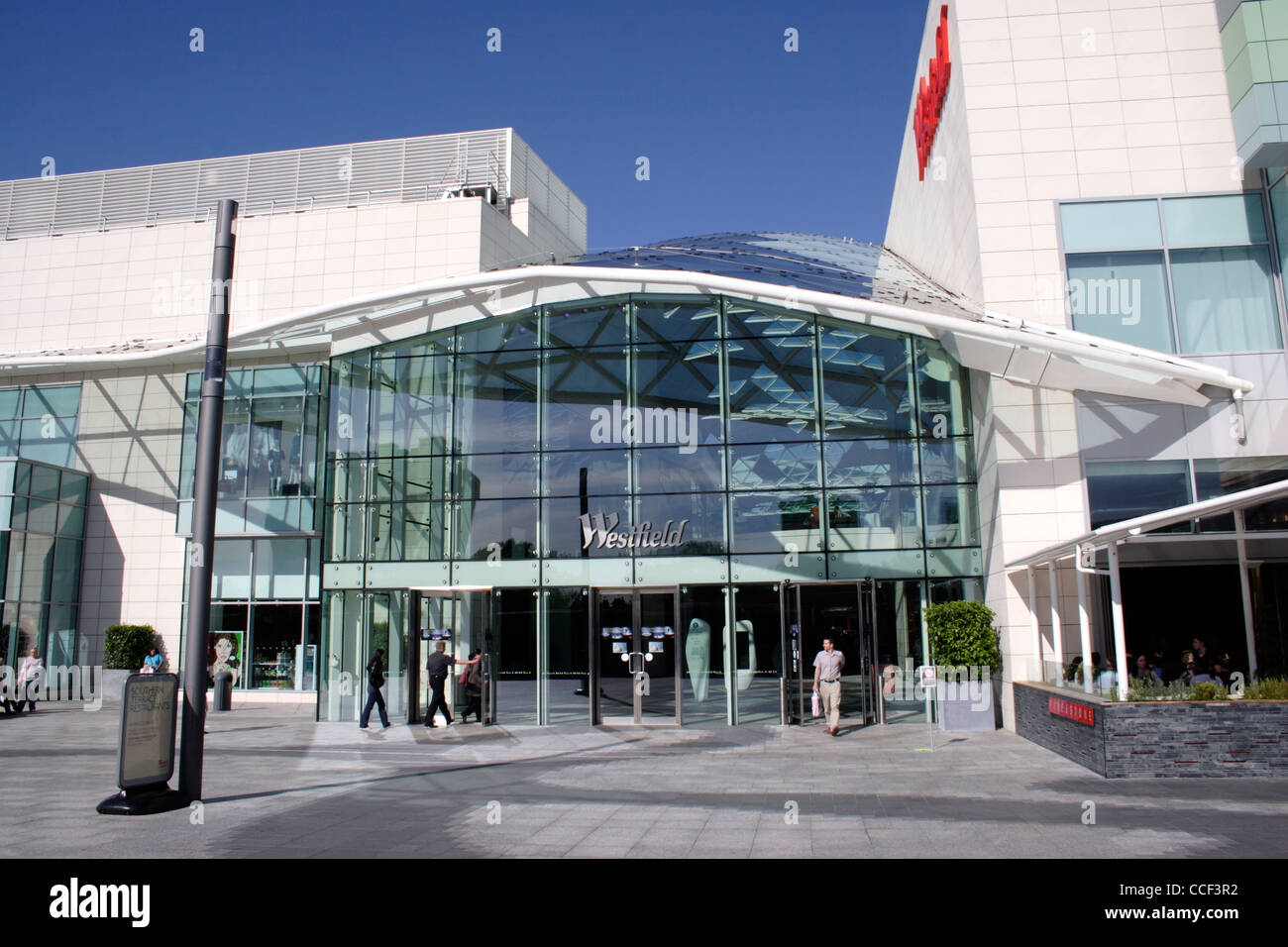 Entrance to Westfield Shopping Centre Shepherds Bush London - Stock Image