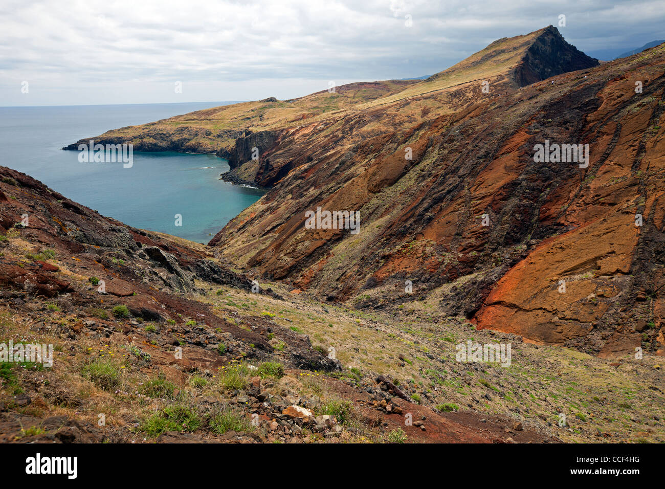 Madeira Island beaches and rocks - Stock Image