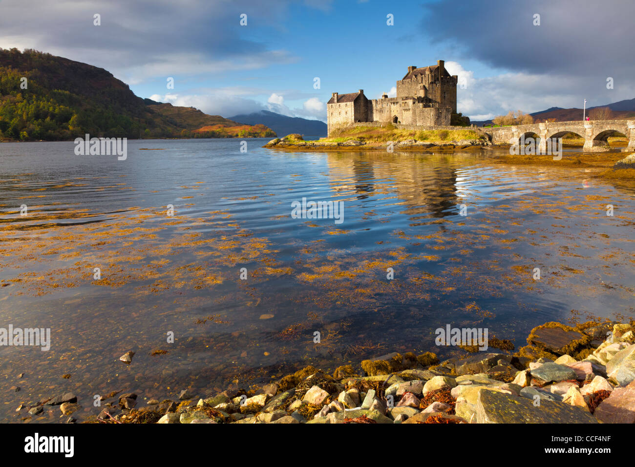 Eilean Donan Castle near Dornie on the road to the Isle of Skye - Stock Image