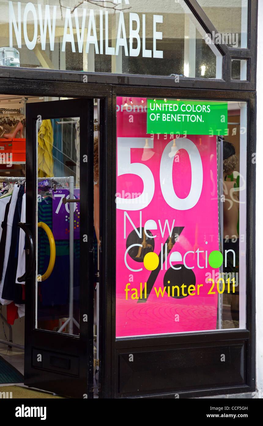 A Benetton store, UK - Stock Image
