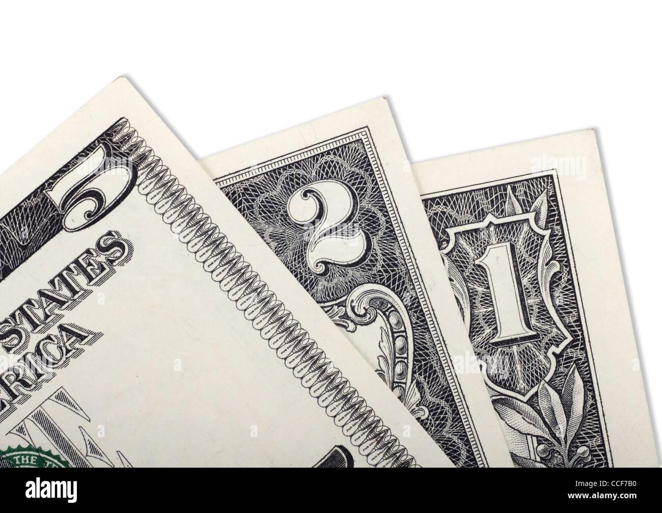 Background of small dollar bills - Stock Image