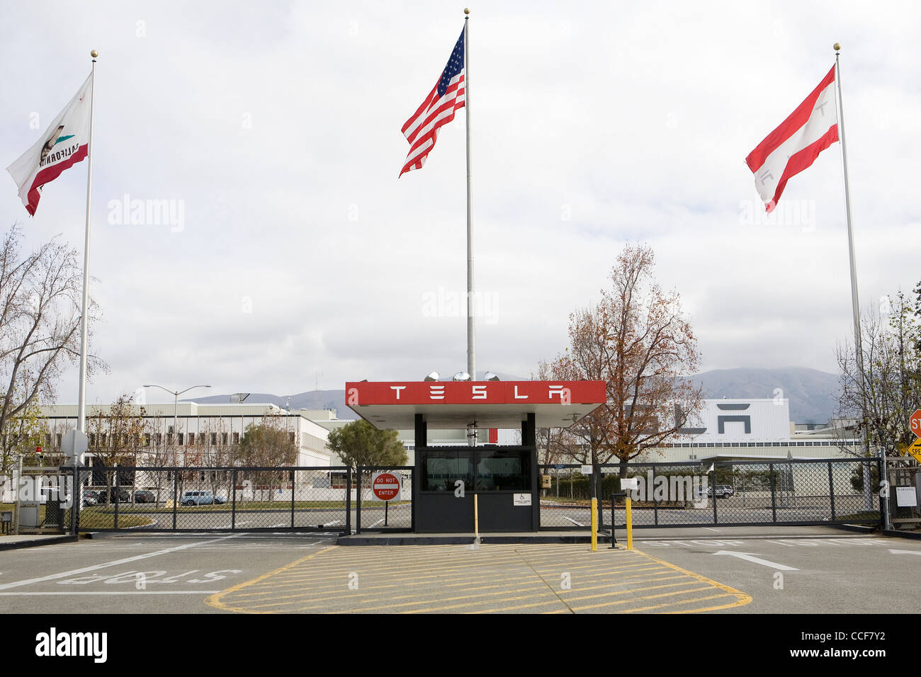 The factory of Tesla Motors. - Stock Image