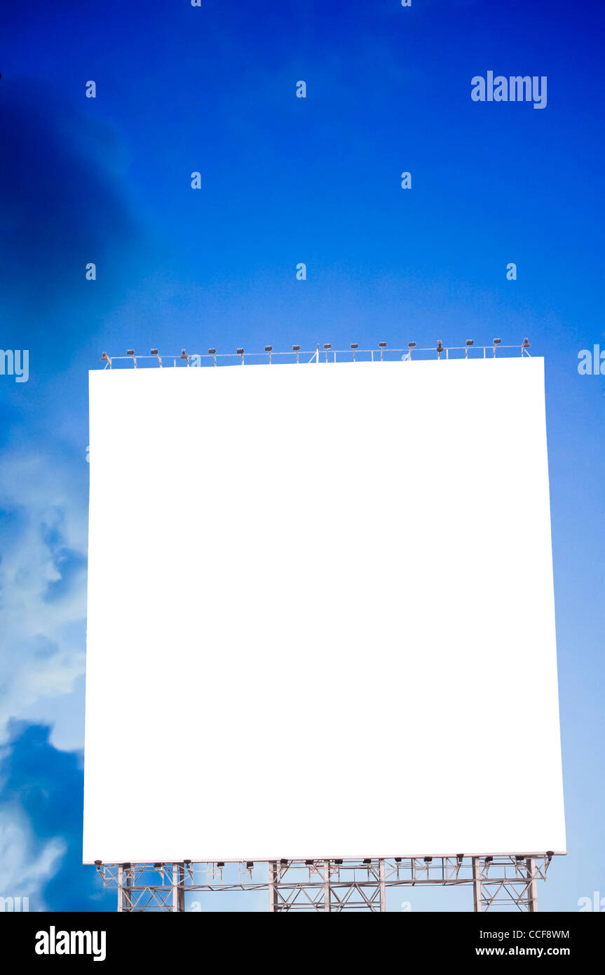 empty billboard display with evening sky, image manipulations. - Stock Image