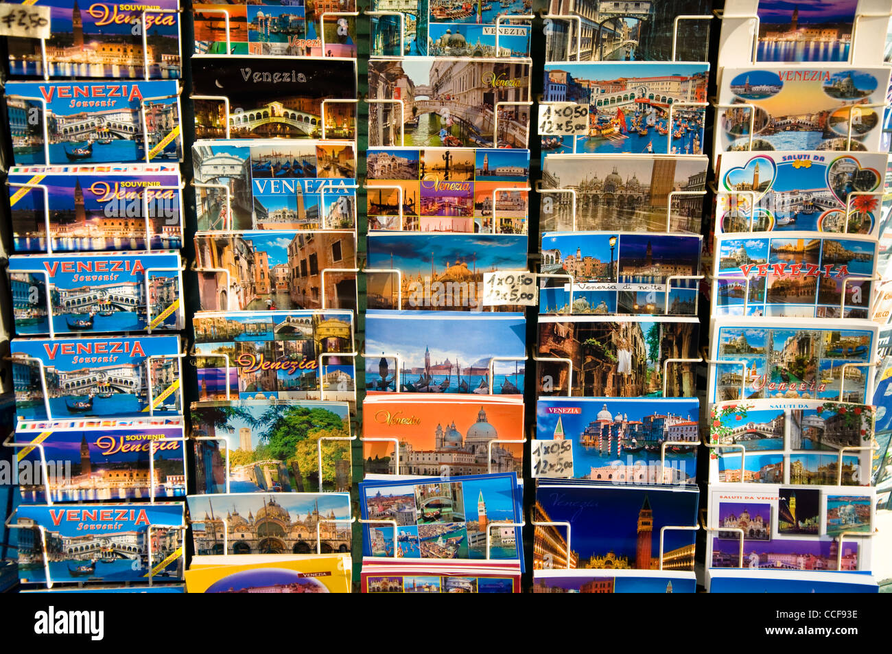 Postcards, Venice, Italy - Stock Image