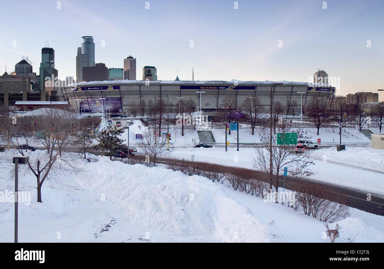 Dec. 14, 2010 - Minneapolis, Minnesota, United States of America - A view of Minnesota Vikings Mall of America Field - Stock Image