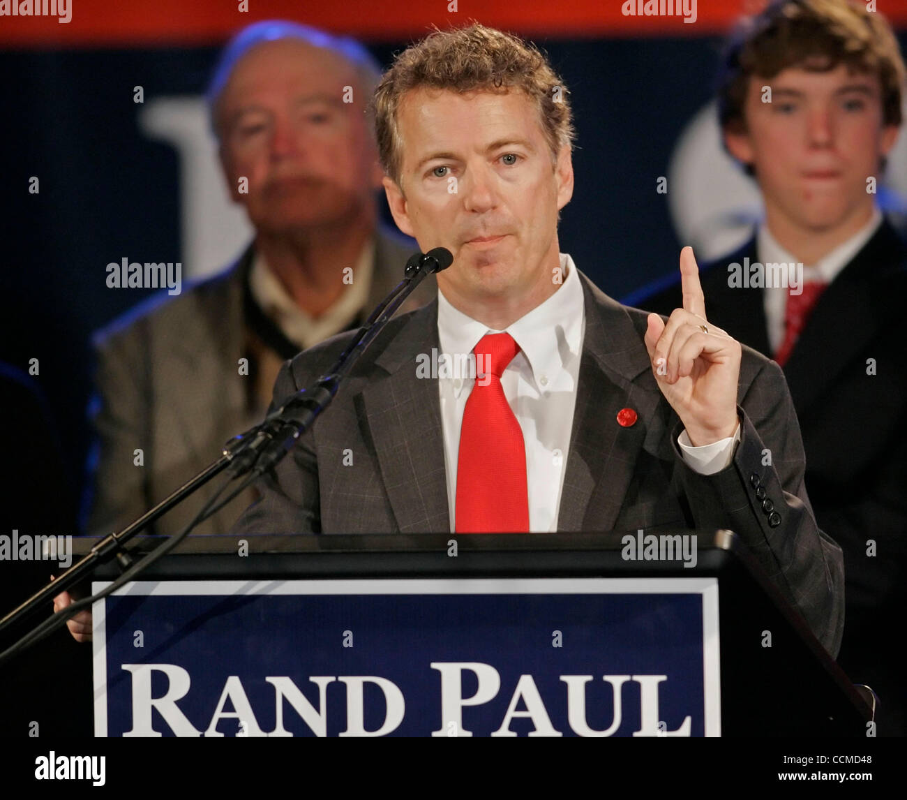 republican senator elect rand paul speaks during an election night
