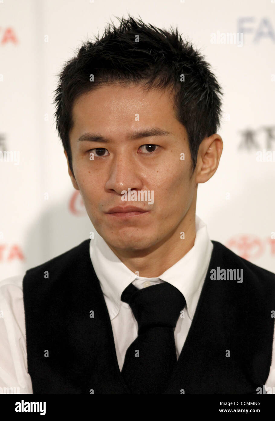 Oct. 28, 2010 - Tokyo, Japan - Actor MASAKI MIURA attends a press conference promoting Sketches of Kaitan City during - Stock Image