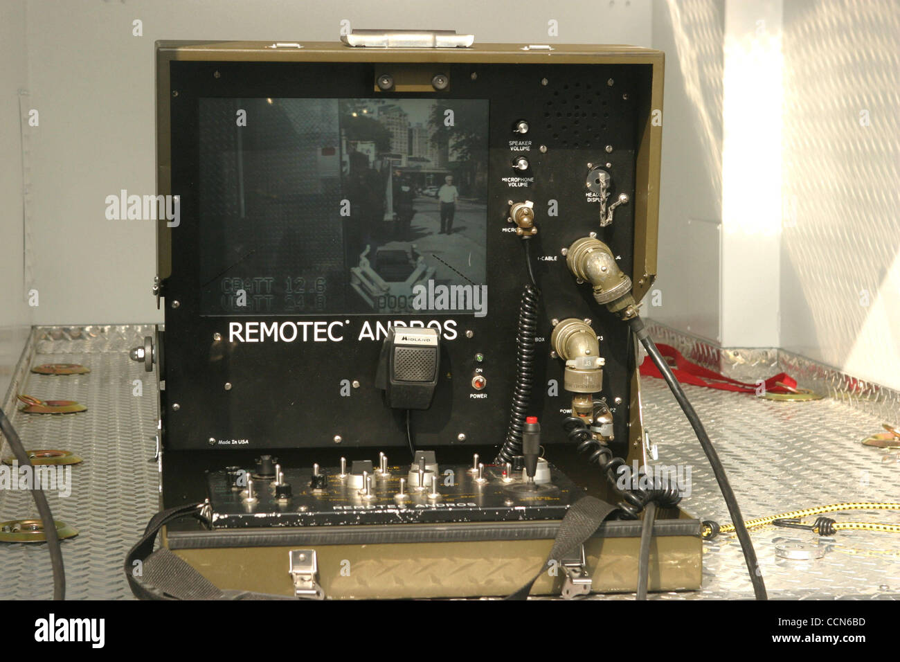Aug 25, 2004; New York, NY, USA;  A view of surveillance equipment during a security technology demonstration for Stock Photo