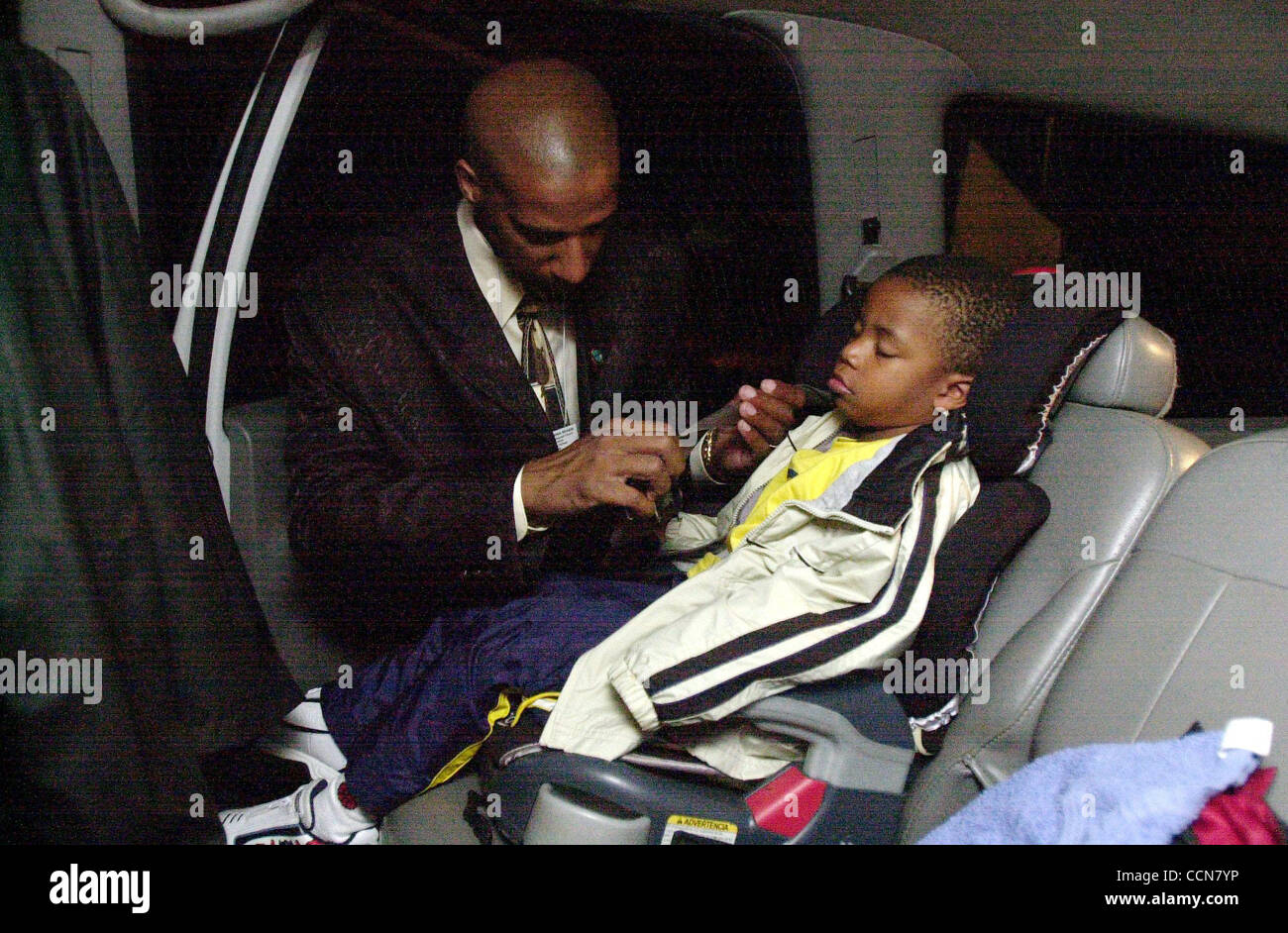0531 AM Jason Branden Right Straps His 3 Year Old Isaiah Into The Car Seat Before Morning Commute Out Of Antioch California On Thursday