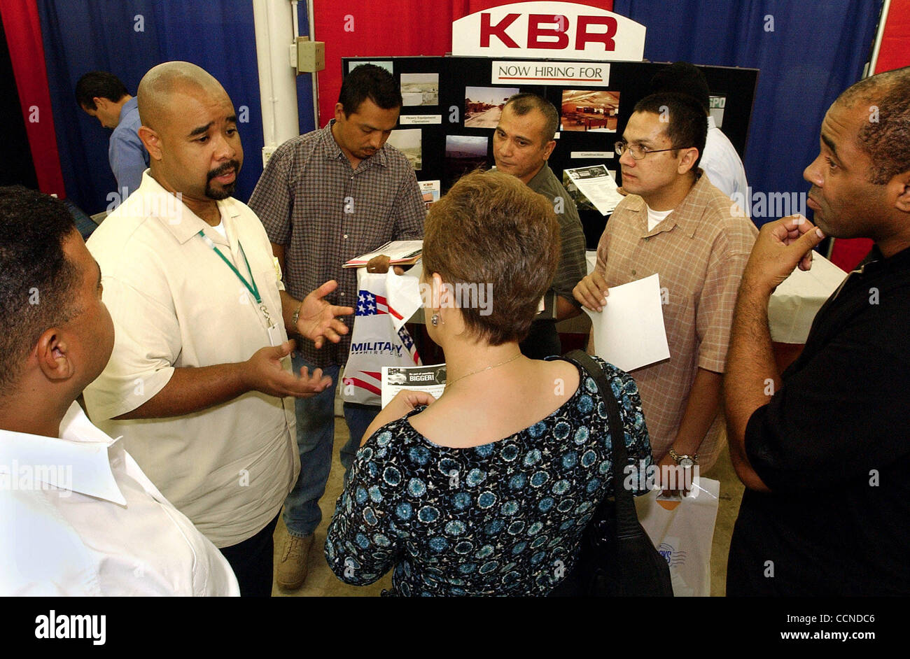 BUSINESS Tony Rico, recruiter for KBR, the engineering and