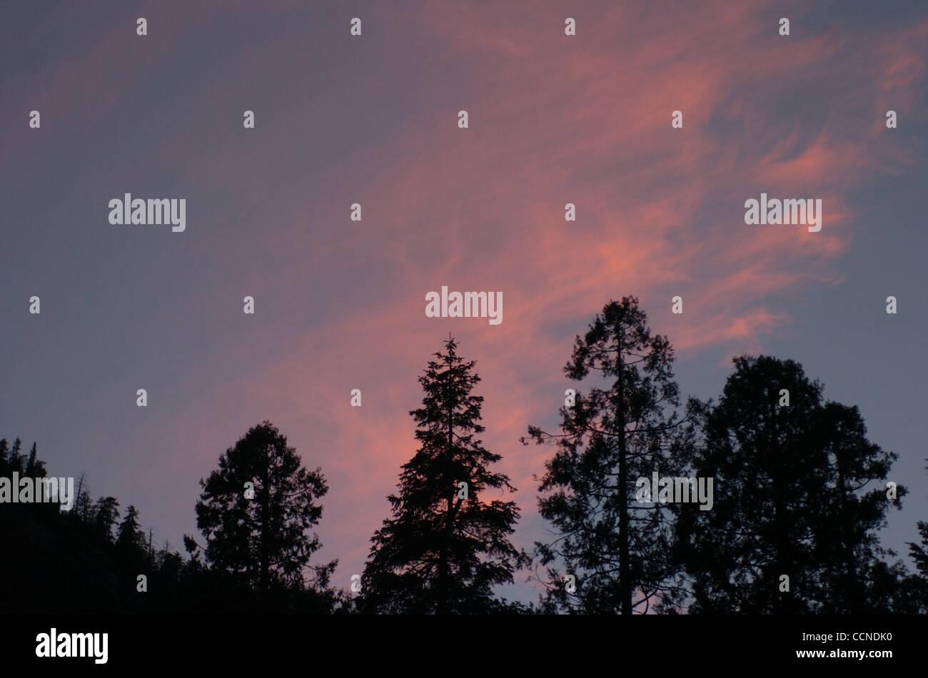 Sep 23 2004 Kings Canyon Ca Usa Alpenglow Twilight Kings