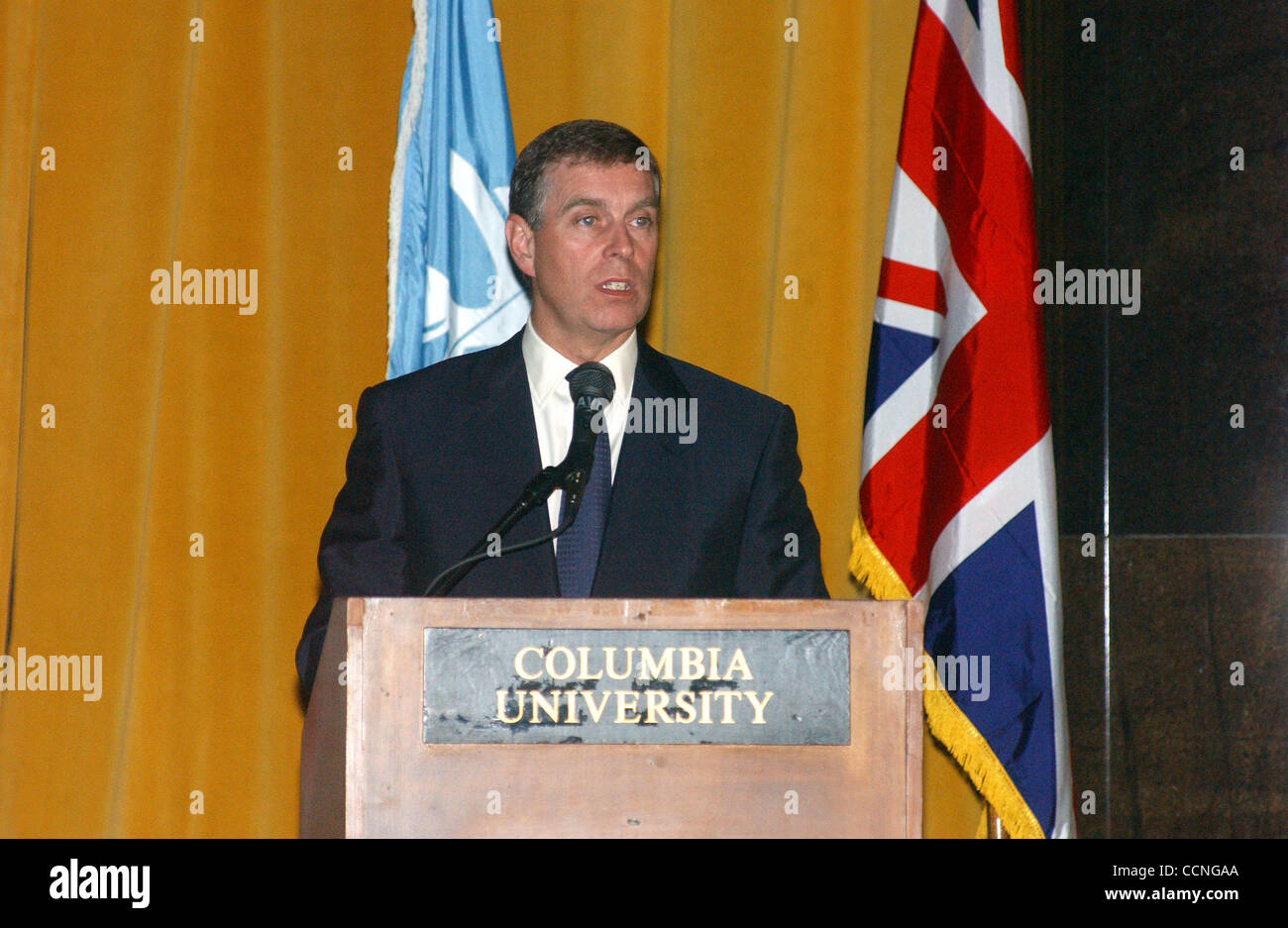 Oct 11, 2004; New York, NY, USA; PRINCE ANDREW gave a speach at Columbia University's 250th anniversary dinner. - Stock Image
