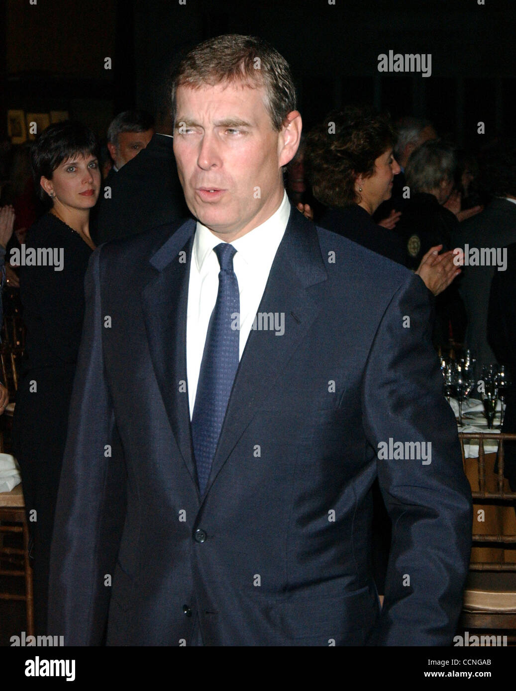 PRINCE ANDREW gave a speach at Columbia University's 250th anniversary dinner. - Stock Image