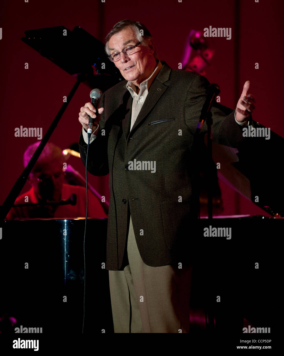 Oct. 22, 2010 - Los Angeles, CA, USA -  PETER MARSHALL performs during 'Come Swing with Me!', a four-day - Stock Image