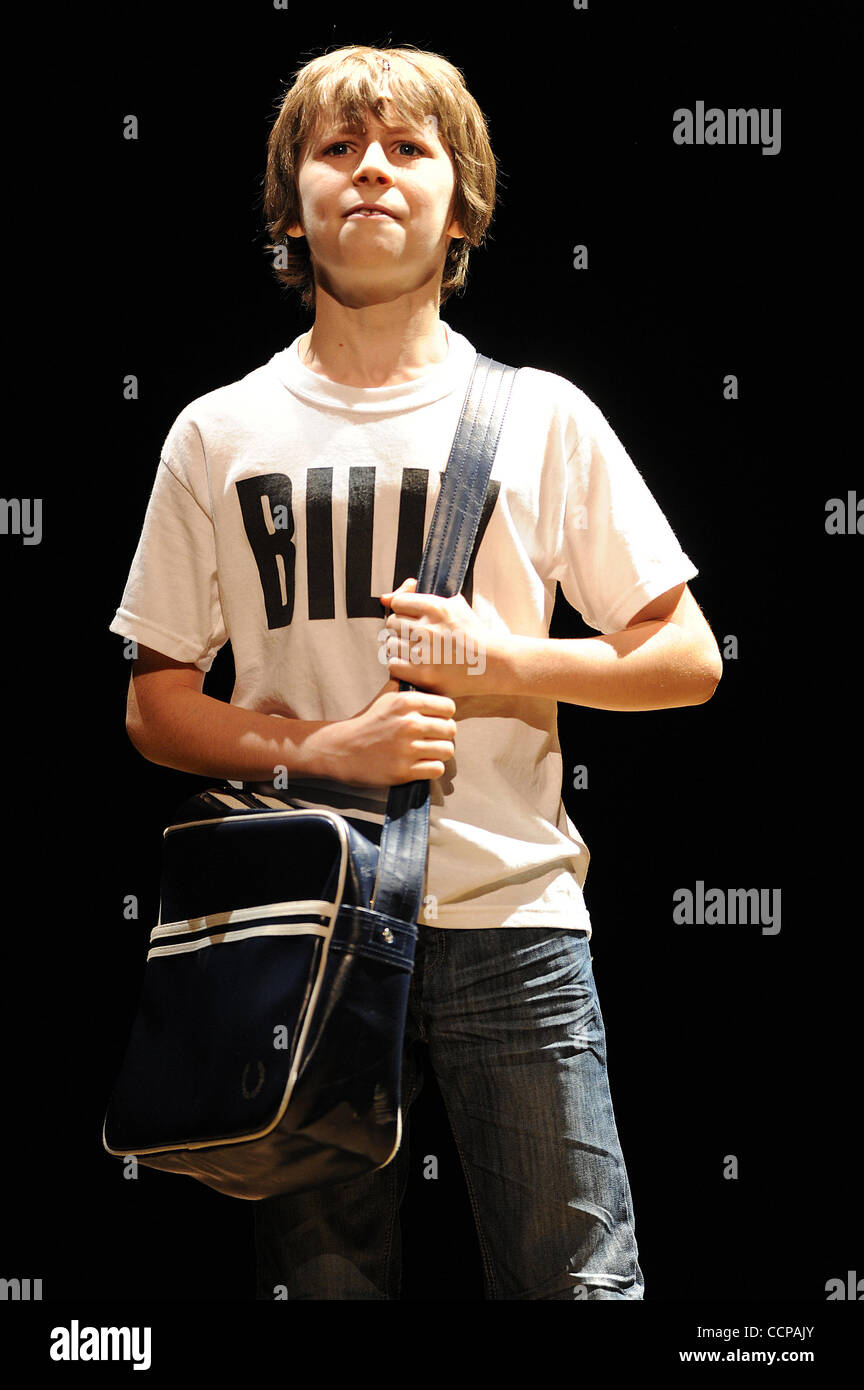 Oct 14, 2010 - Durham, North Carolina; USA -  Actor KYLEND HETHERINGTON who is starring as Billy Elliot in the Broadway - Stock Image